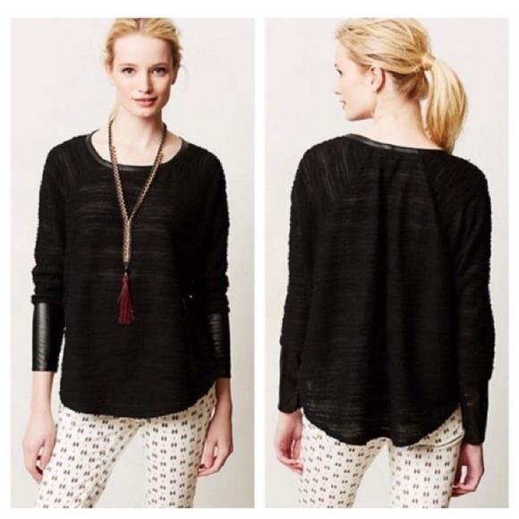 Anthropologie Tops - Anthropologie Dolan Derru Black Sweater Loose Fit